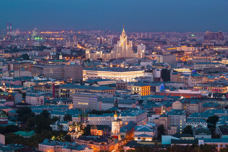 Mosca, il panorama della città