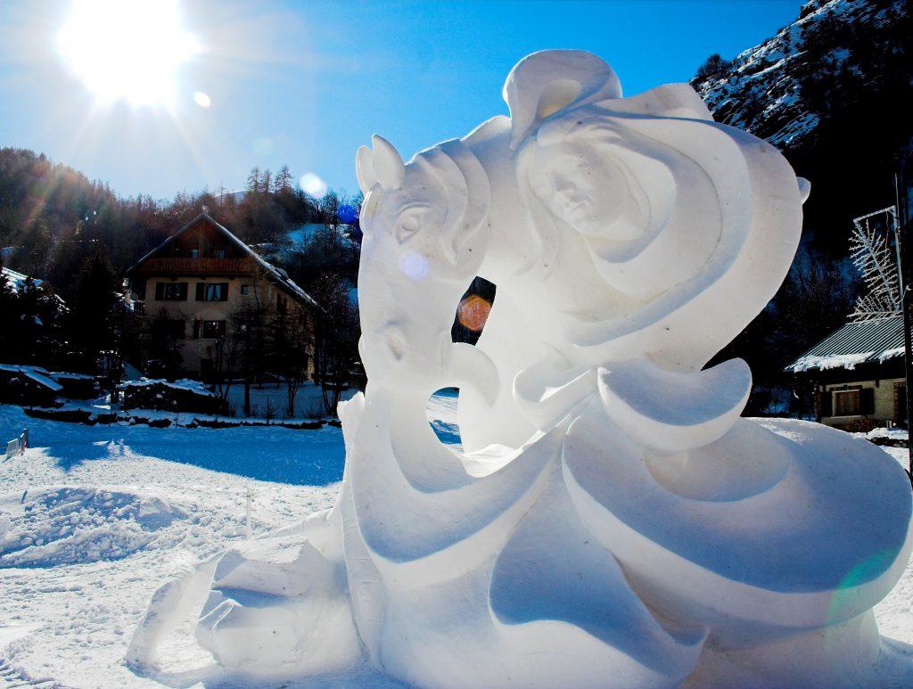 Valloire Snow Sculpture